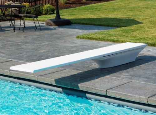 8ft Frontier II Diving Board + Flyte Deck Stand - White